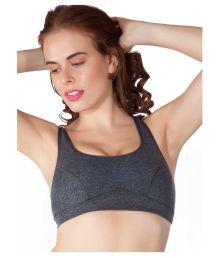 Liberti World Gray Cotton T-Shirt/ Seamless Bra