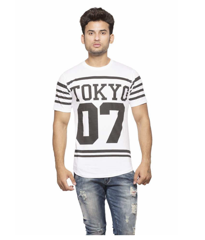 Yo Republic White Round T-Shirt