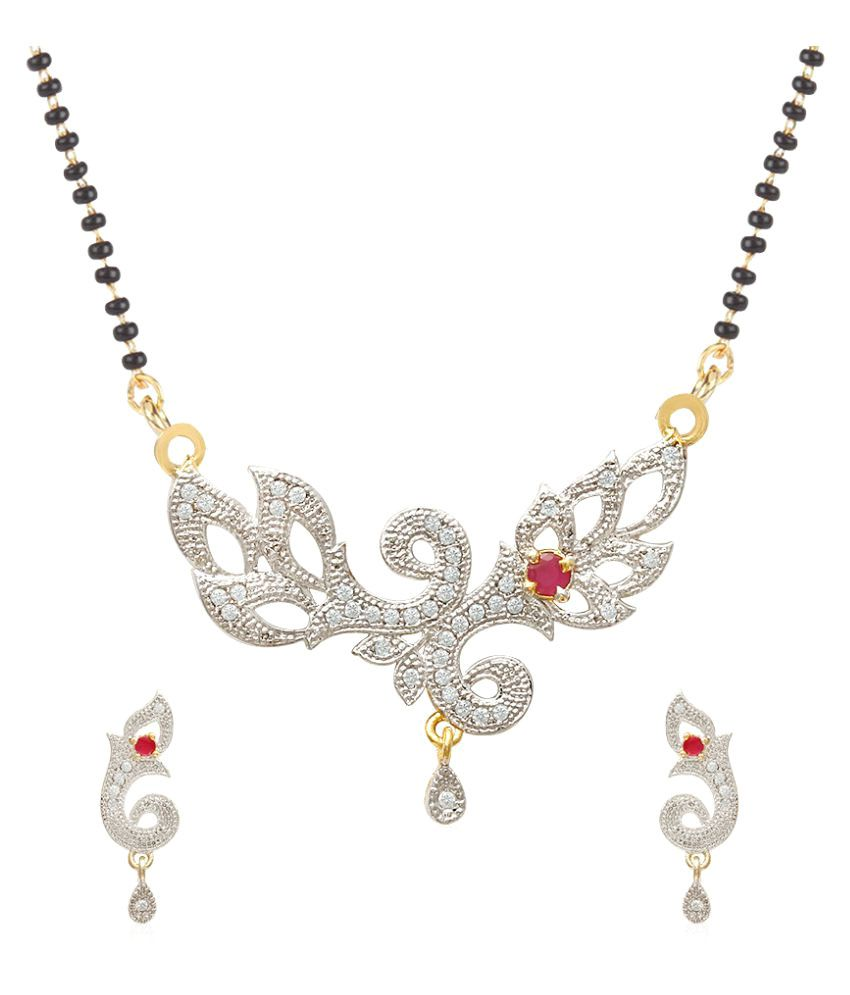 Jewels Galaxy White Mangalsutra Set