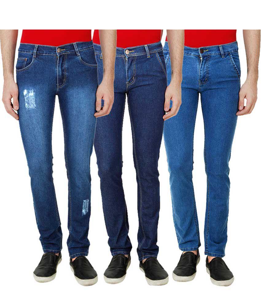 Ansh Fashion Wear Blue Regular Fit Faded