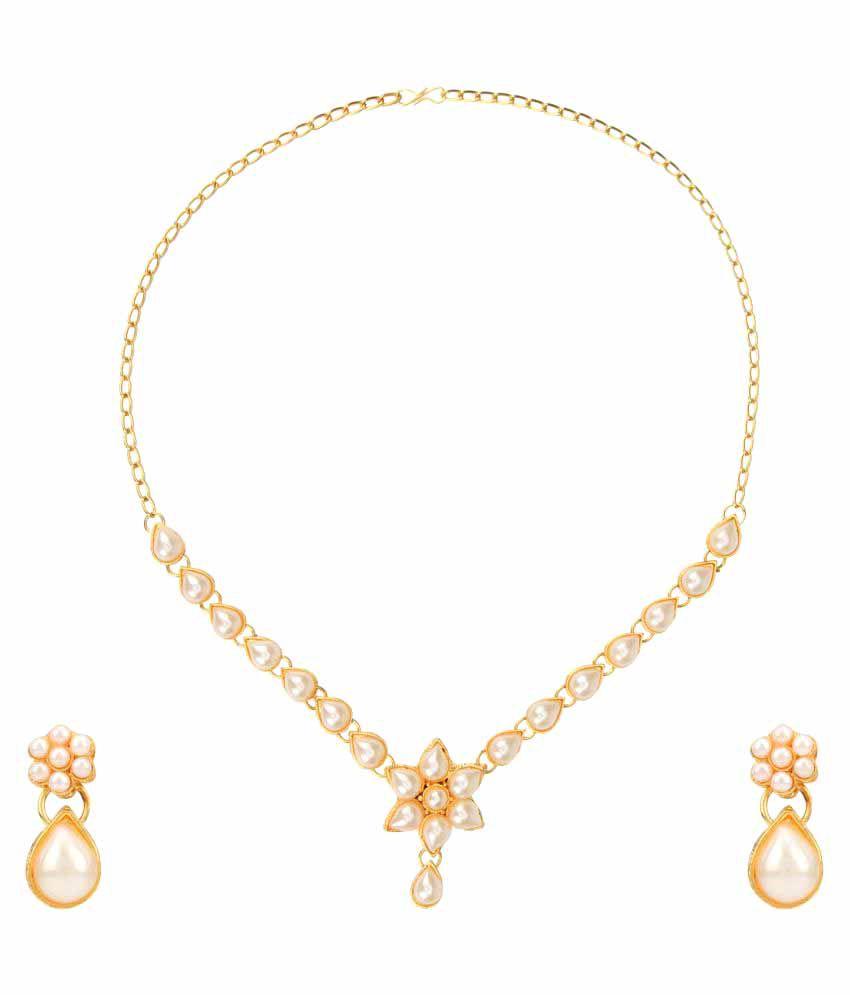 Dancing Girl Golden Alloy Necklace Set