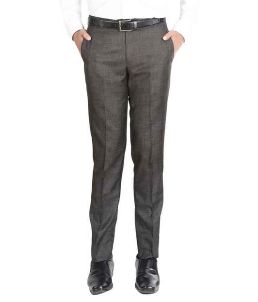 Numerics Brown Slim Flat Trouser