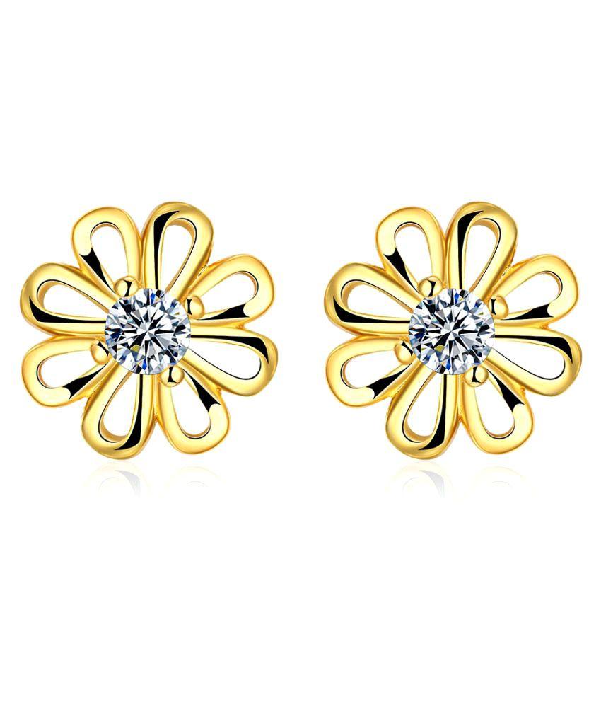 Isweven Golden Studs Earrings