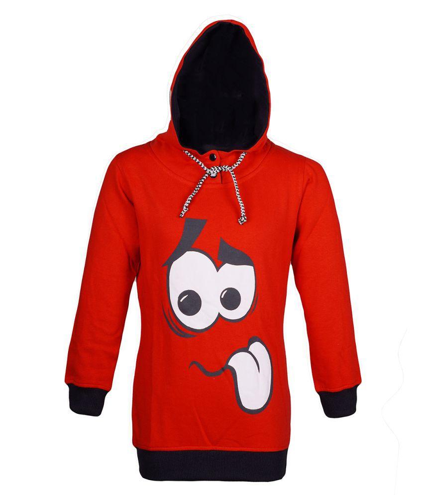 Naughty Ninos Red Cotton Blend Sweatshirt