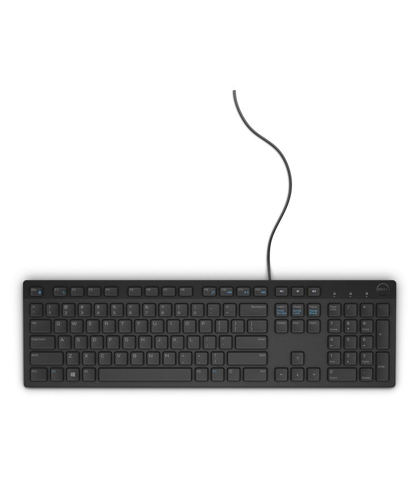 Dell dellkb216wiredmultimediausbkeyboard Black USB Wired Desktop Keyboard Keyboard