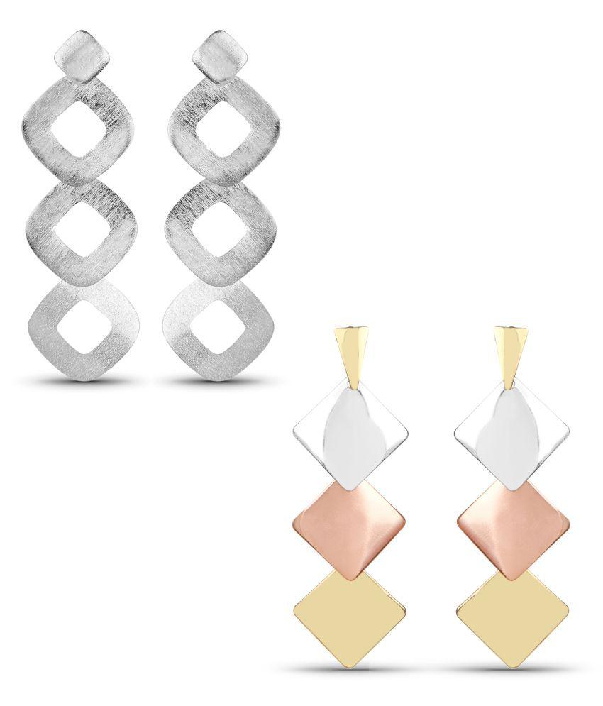 Johareez Multicolor Earrings - Pack of 2