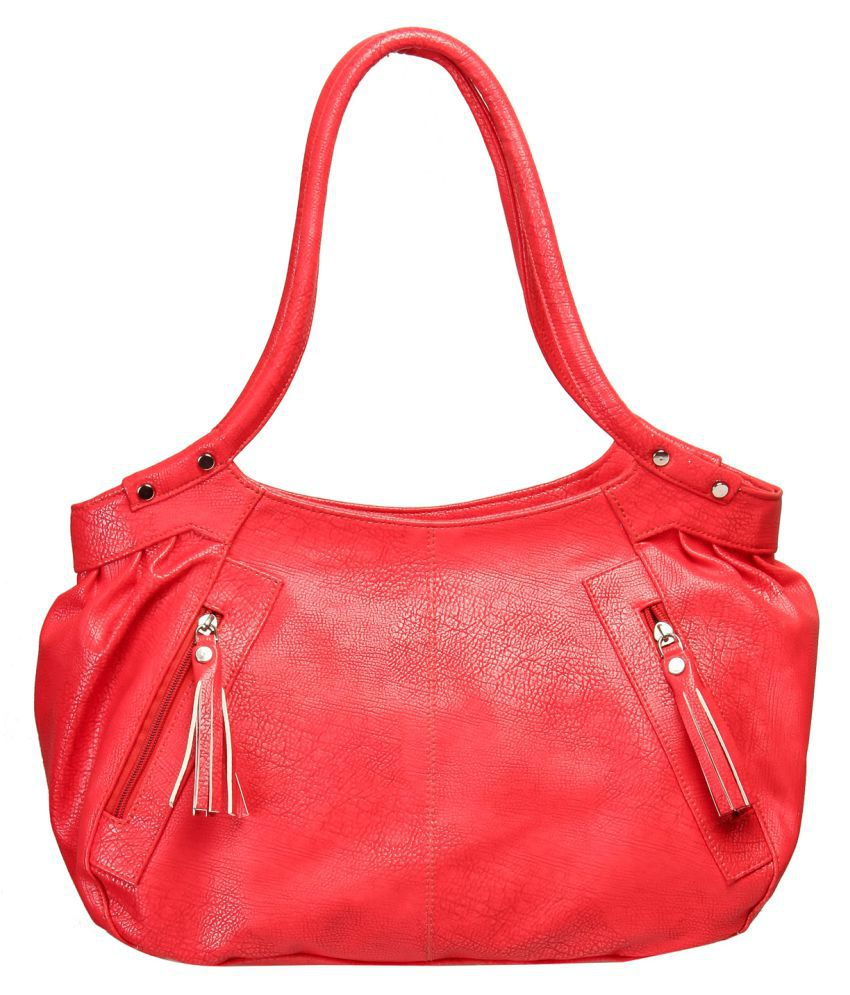 Levise London Red Artificial Leather Handheld