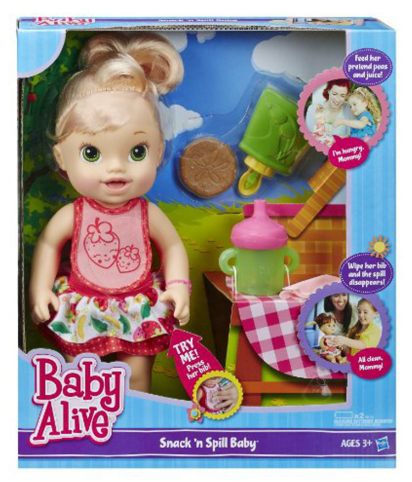 Baby Alive Snack N Spill Baby Blonde Buy Baby Alive