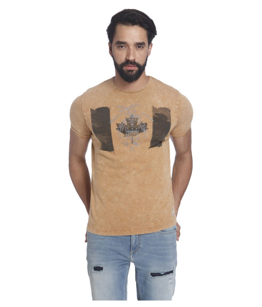 Jack & Jones Beige Round T-Shirt