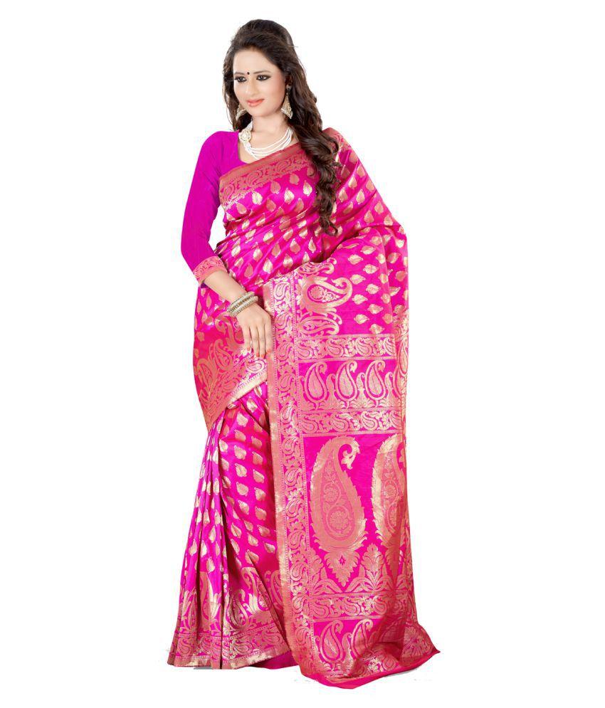 Isha Fashion Multicoloured Banarasi Silk Saree