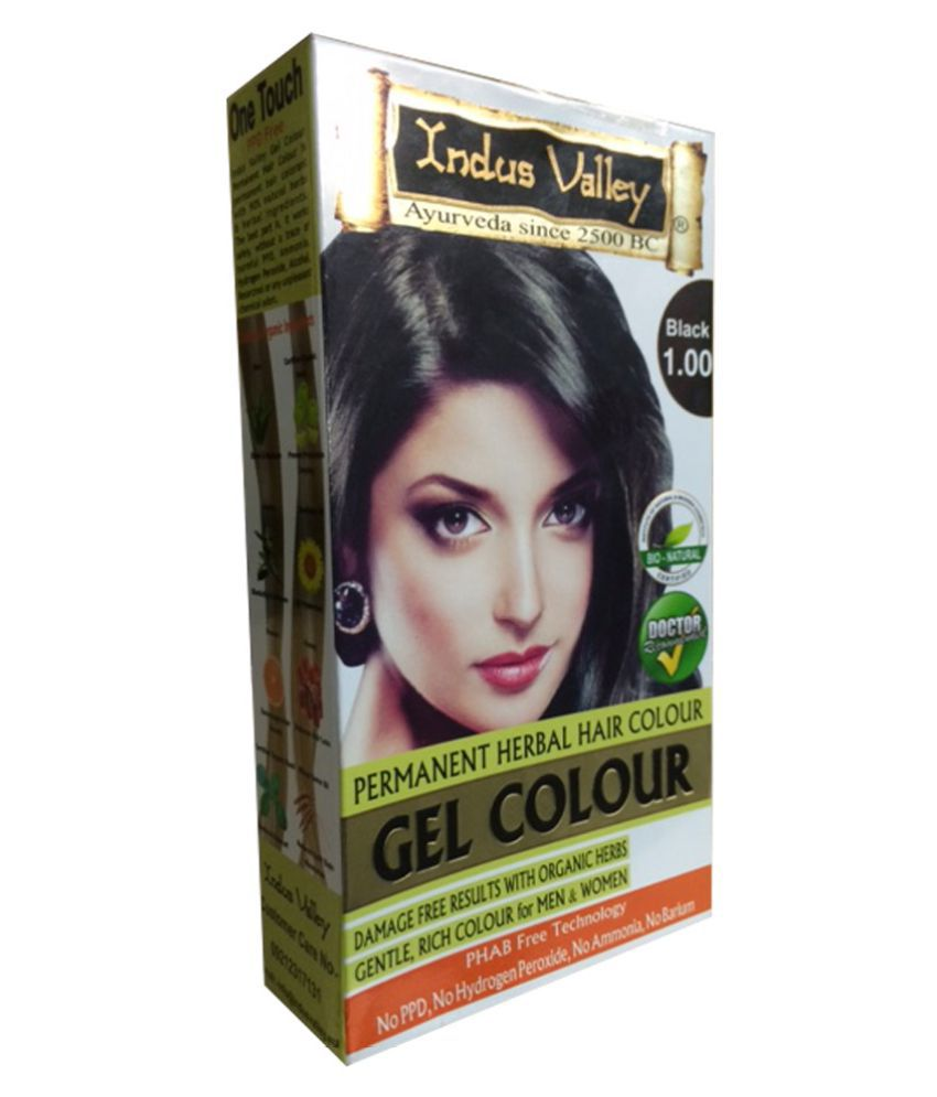 Indus Valley Organically Natural Gel Black 100 Extra Safe Hair