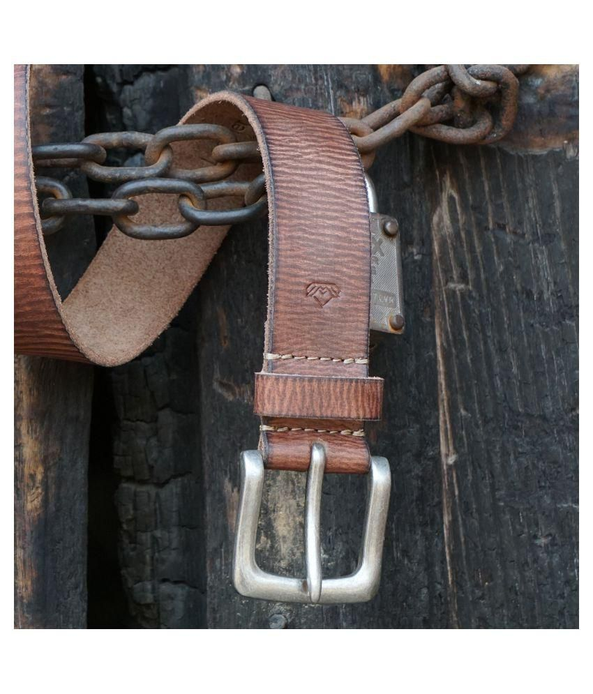 Wolux Brown Casual Belt For Men