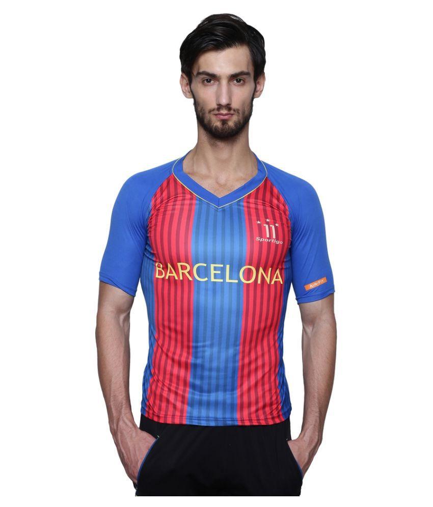 Sportigo Replica FC Barcelona NEYMAR Home Football Jersey - 2016/17 (M)