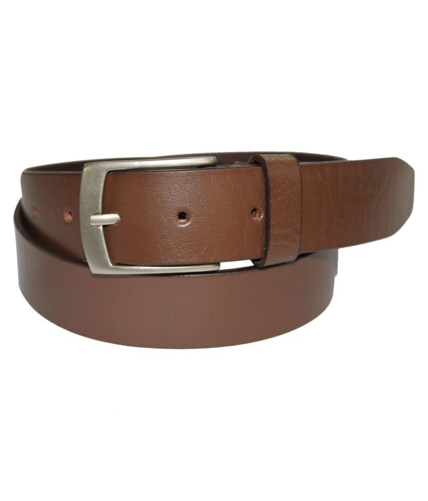 Fedrigo Brown Leather Casual Belts