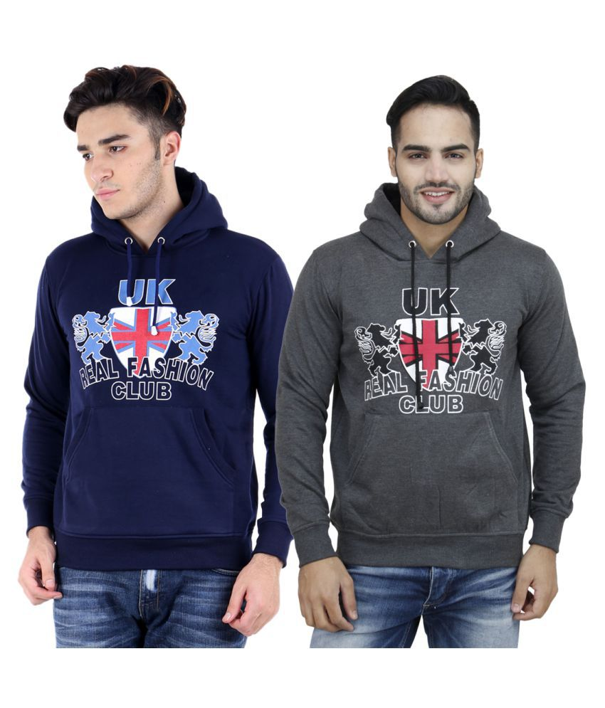 Hardy's Collection Multi Hooded Sweatshirt Pack of 2