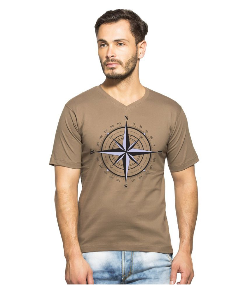 Clifton Beige V-Neck T-Shirt