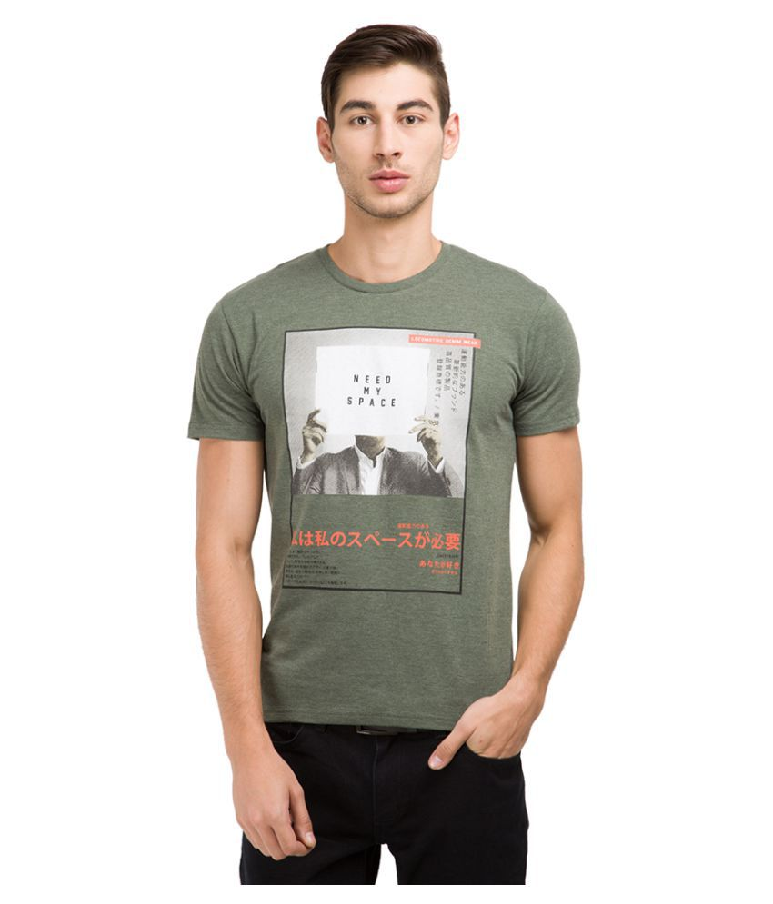 Locomotive Green Round T-Shirt
