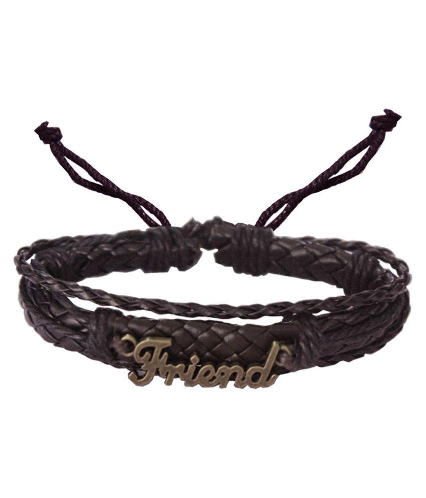 Mens Jewell Brown Bracelet
