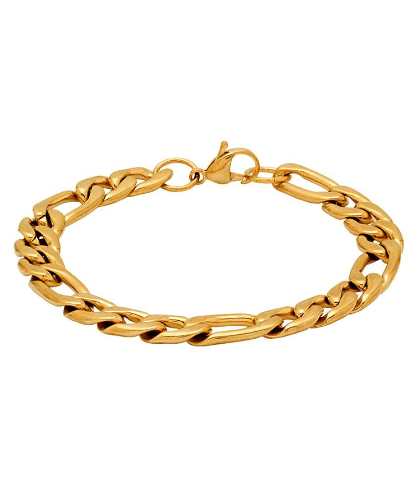 Voylla Golden Stainless Steel  Bracelets