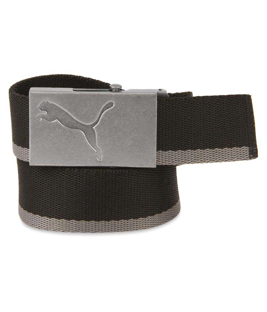 Puma Black PU Casual Belts