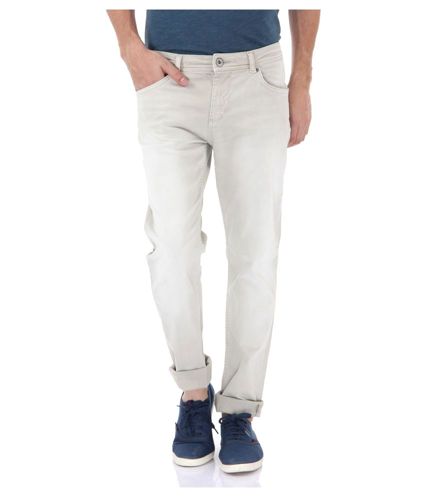 Selected Beige Slim Flat Trouser