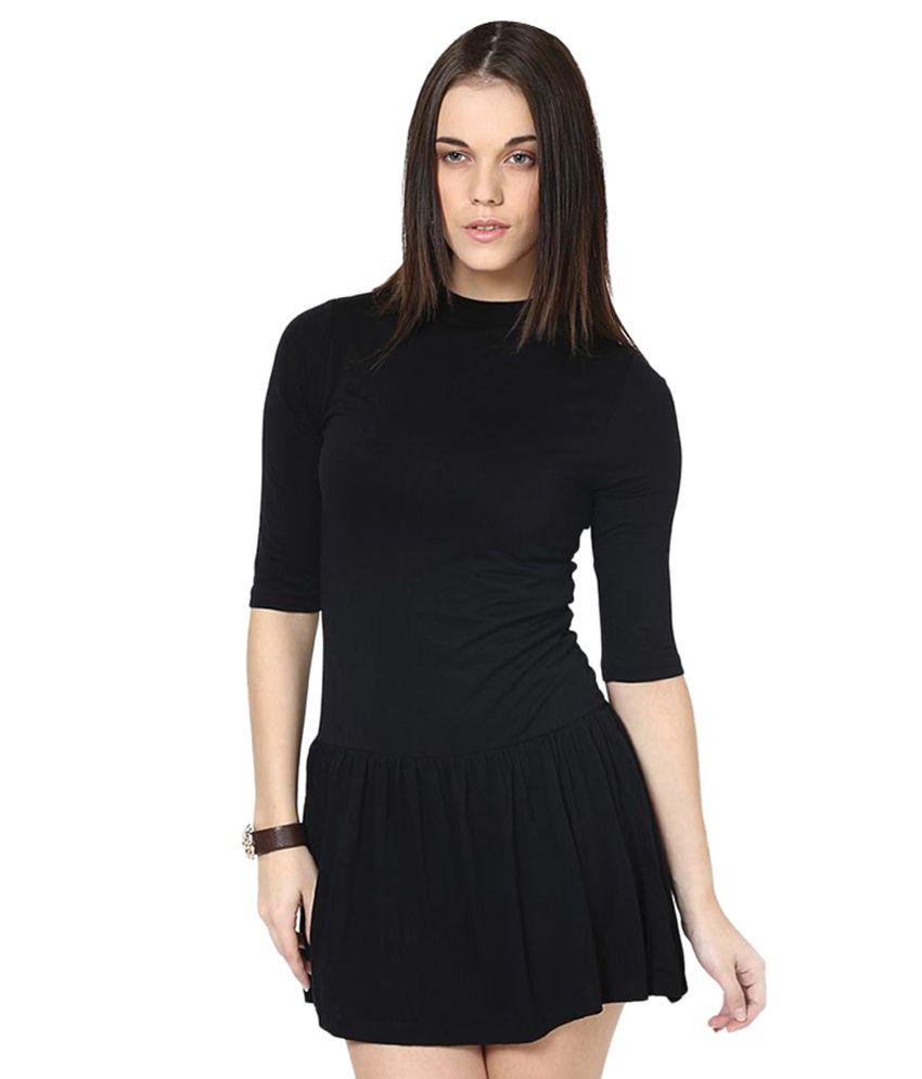 Only Black Viscose Dresses