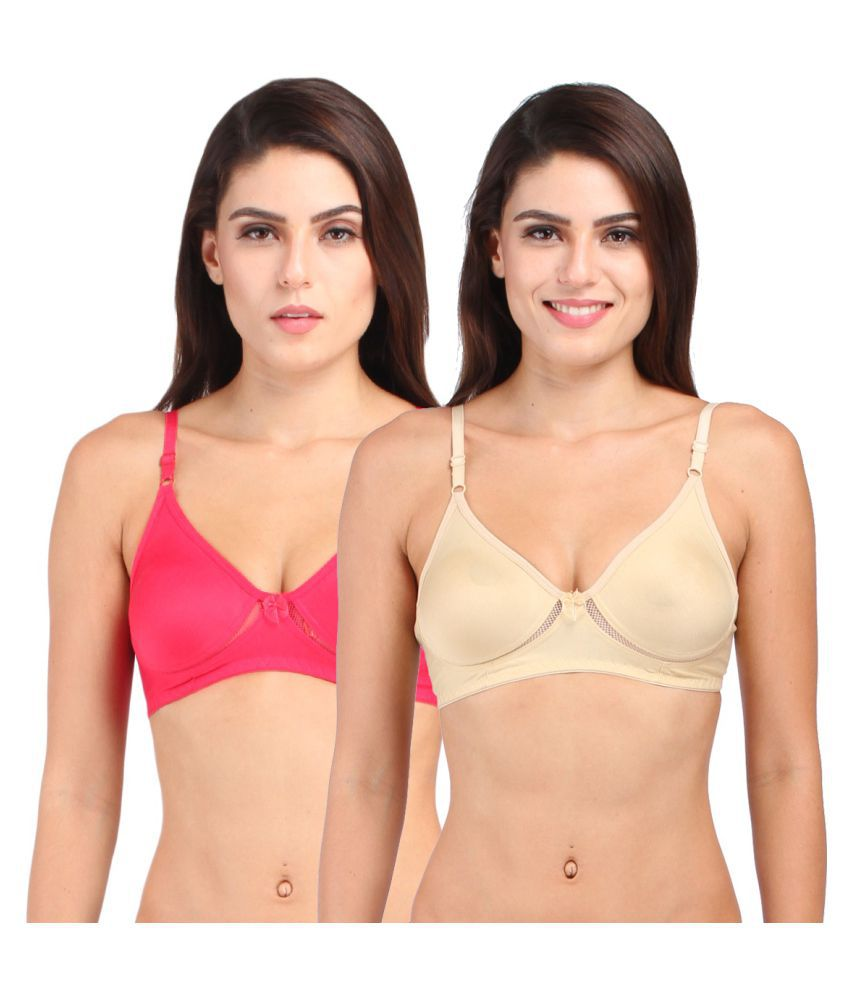 Inner Secrets Multi Color Cotton T-Shirt/ Seamless Bra