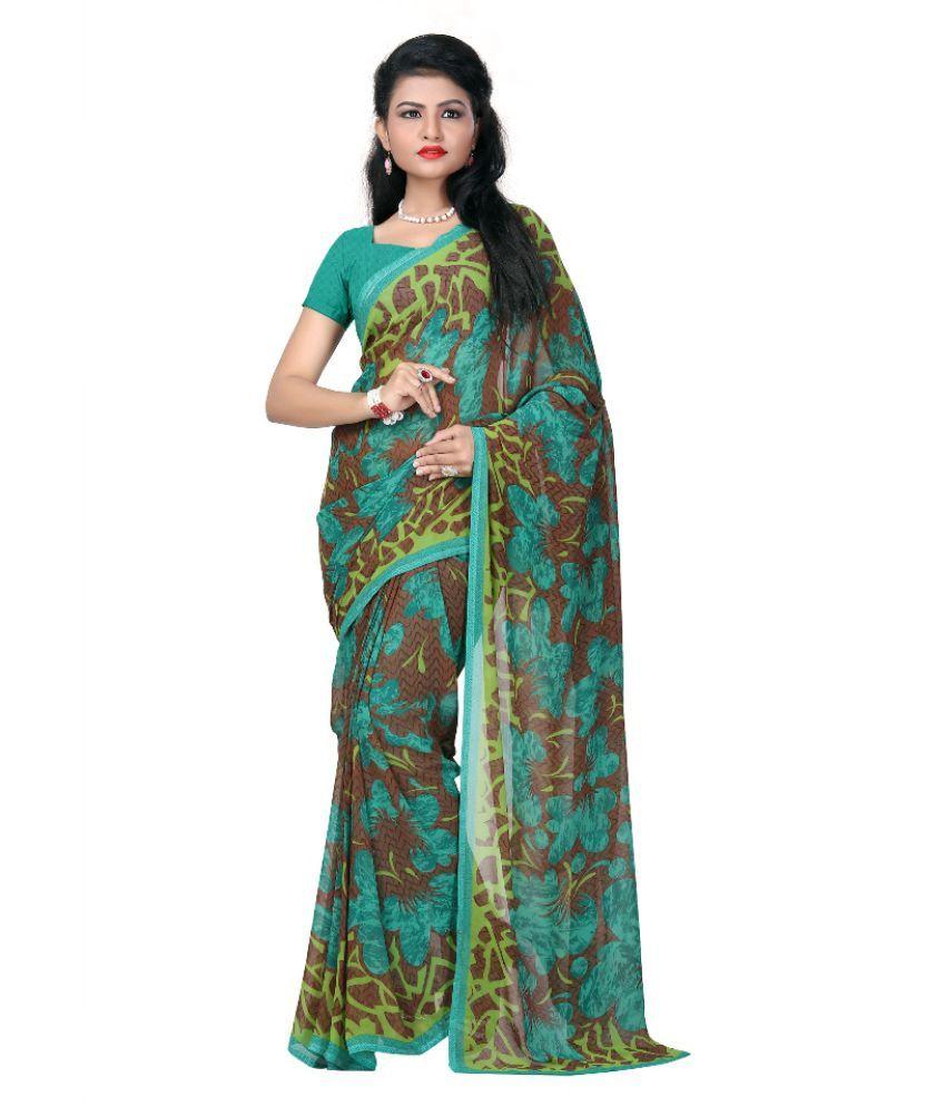 Janasya Multicoloured Georgette Saree