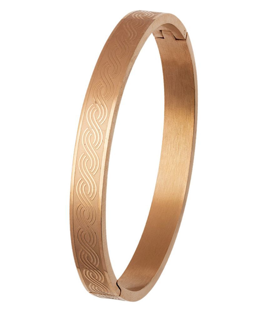 Voylla Golden Stainless Steel Bracelet