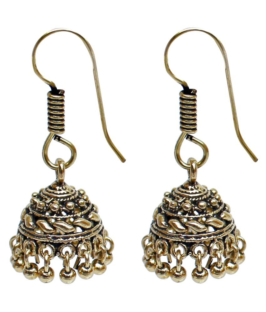Lucky Jewellery Golden Alloy Jhumki