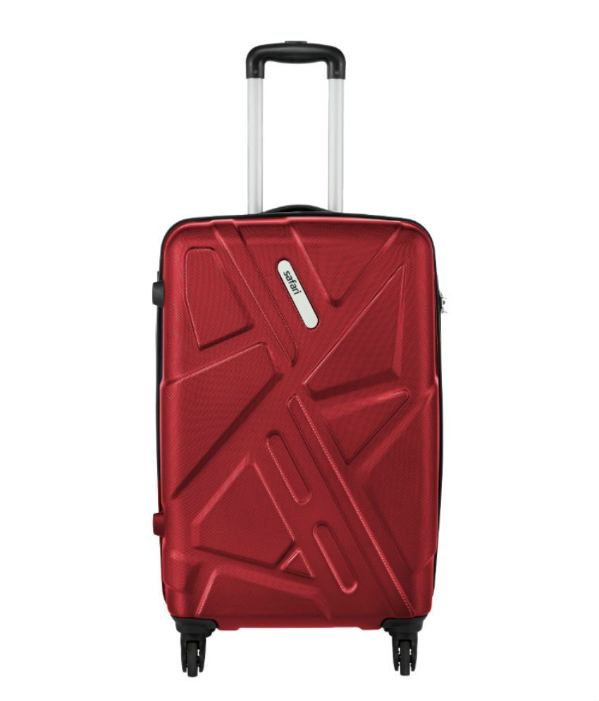Flat 50% - 80% Off on Luggages & Bags | Safari Traffik-Anti Scratch Red 4 Wheel Hard Luggage-Size Small (Below 60 Cm) By Snapdeal @ Rs.1,718
