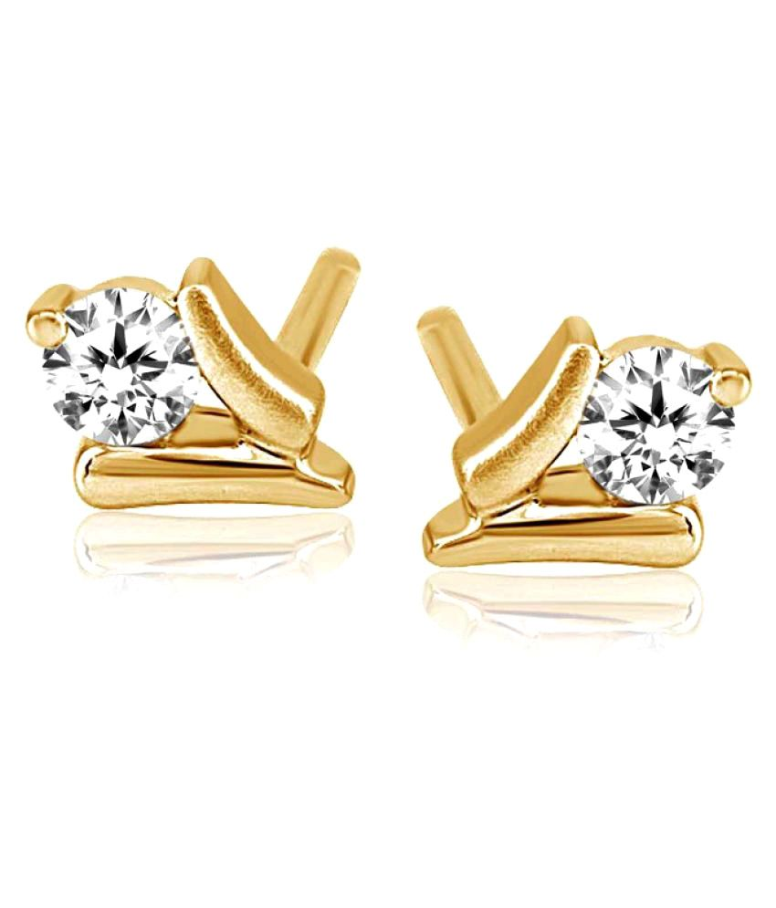 ATJewel 18k BIS Hallmarked Yellow Gold Diamond Studs