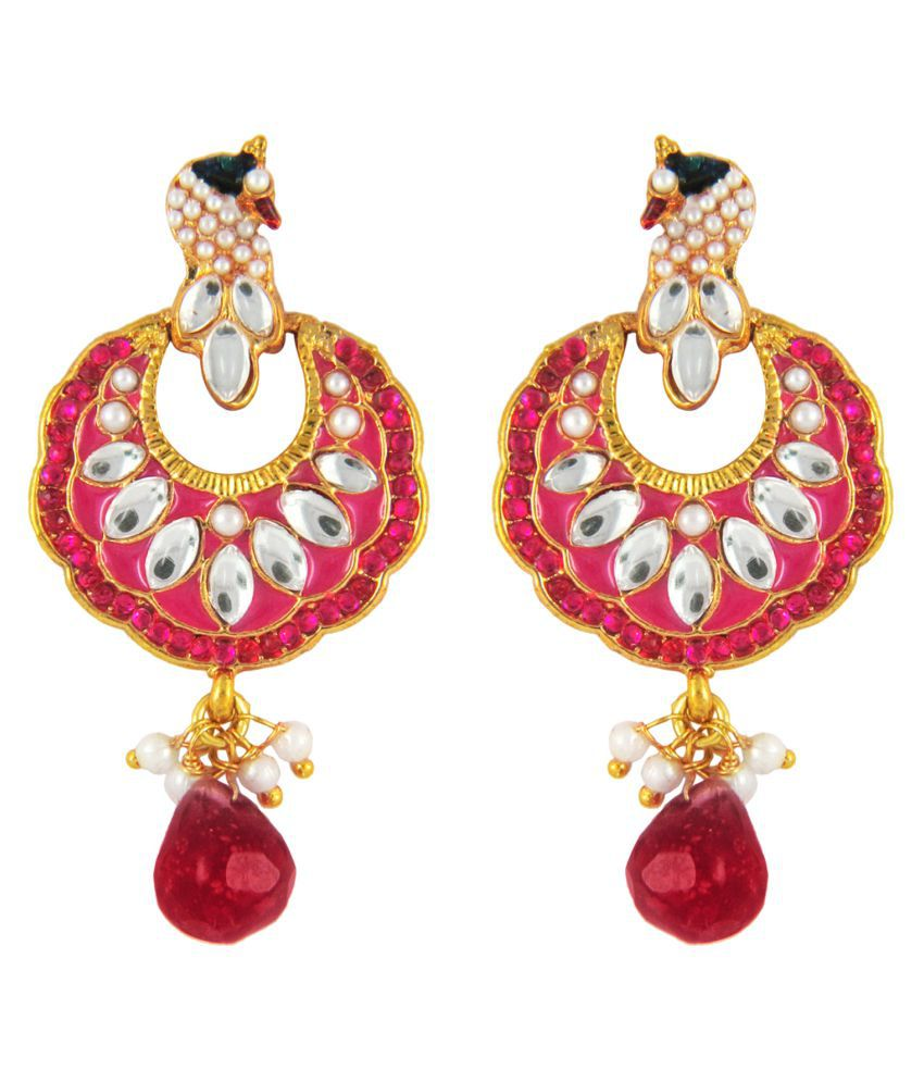 Parisha Golden Jhumki Earrings