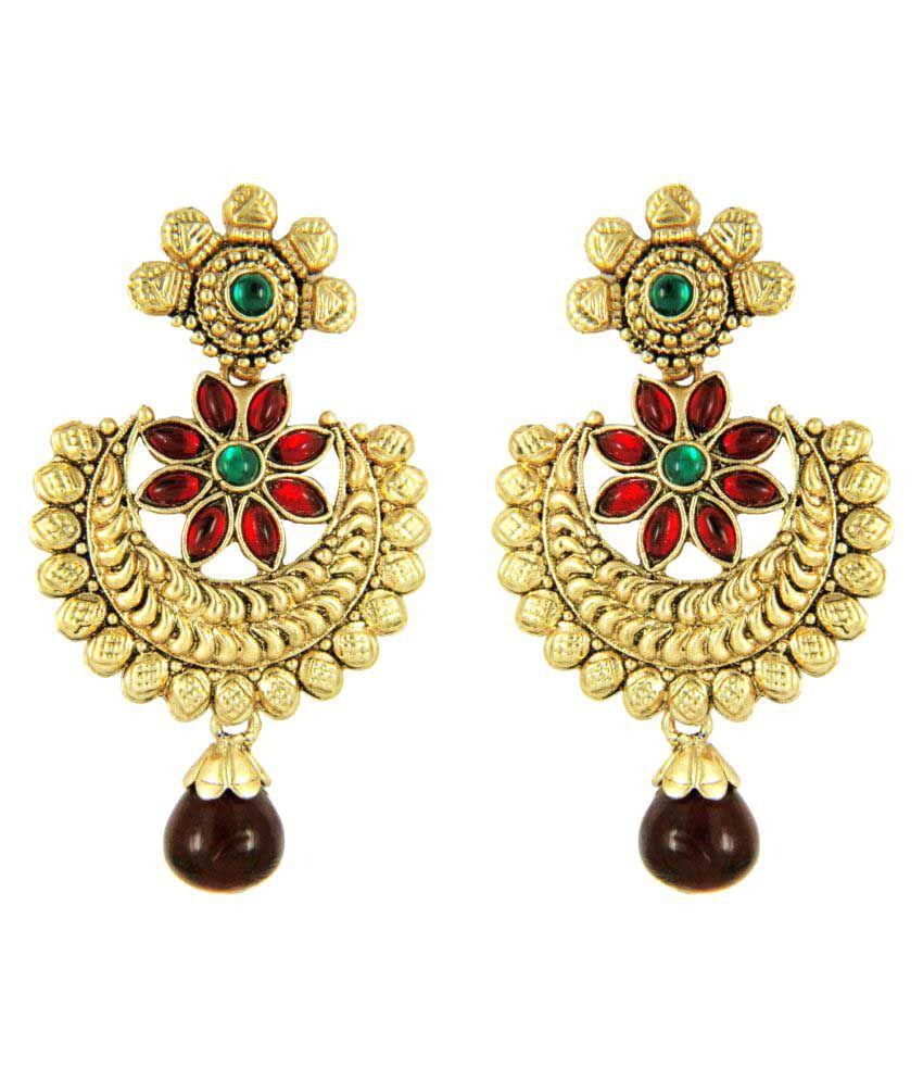 Parisha Golden Hangings Earrings