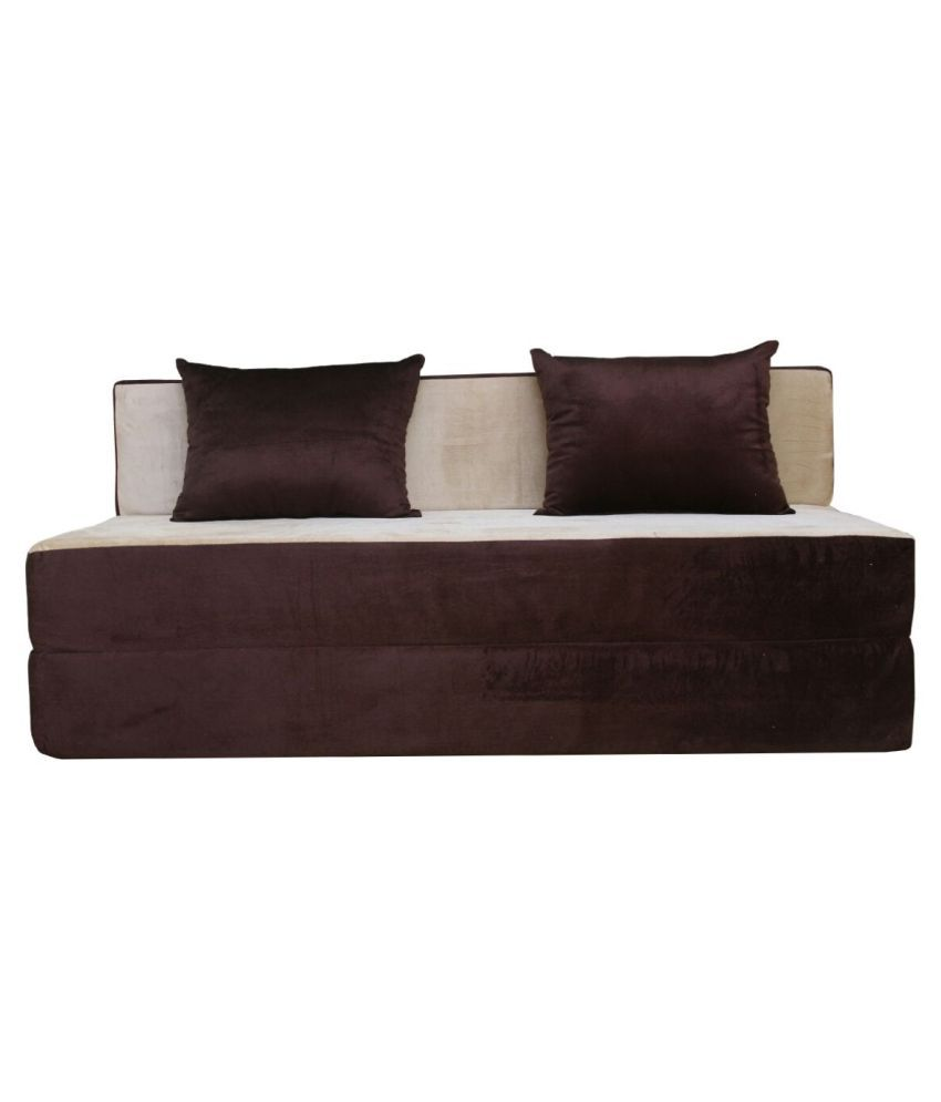 adorn india easy cumbed fabric sofa cum bed
