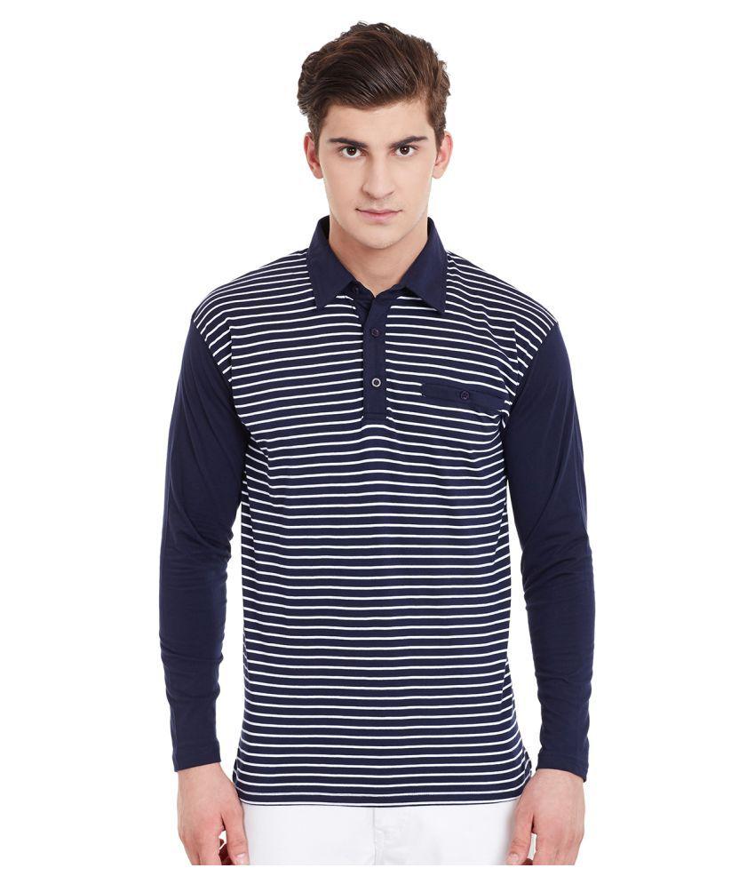 Hypernation Navy Regular Fit Polo T Shirt