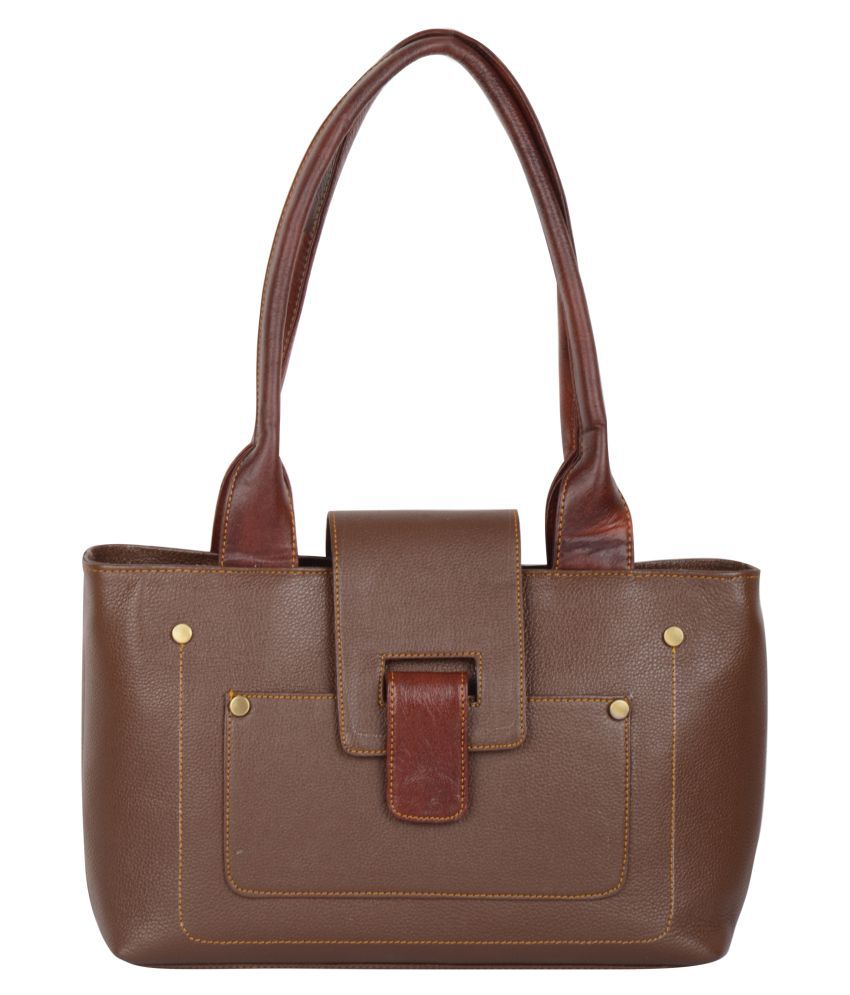 Bluwhale Brown Faux Leather Shoulder Bag