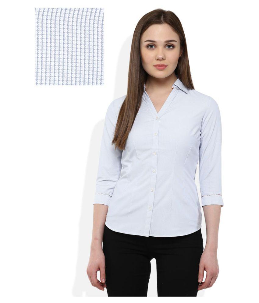 Bombay High Blue Poly Cotton Shirt