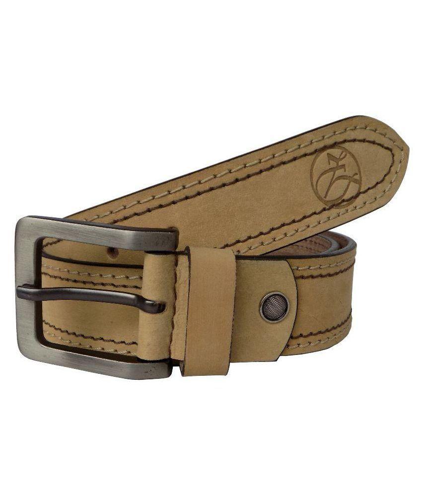 Czar Enterprises Beige Leather Casual Belts
