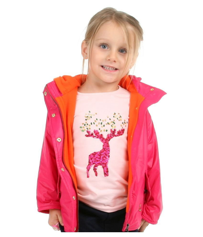 Cherry Crumble Lightweight Fleece Line Field Jacket For Girl