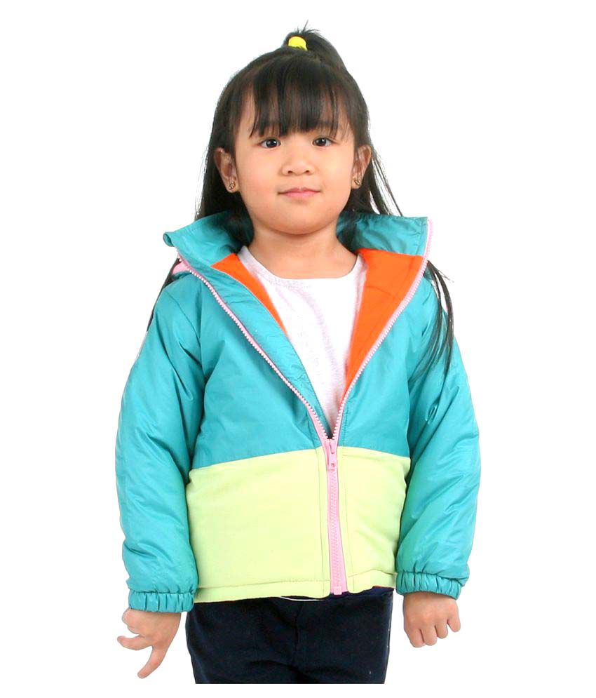 Cherry Crumble Soft Fleece Lined PUFFER Jacket For Girl