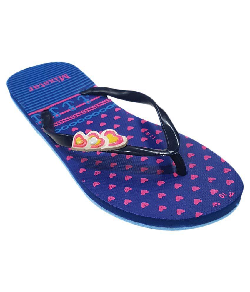 Amatra Blue Slippers