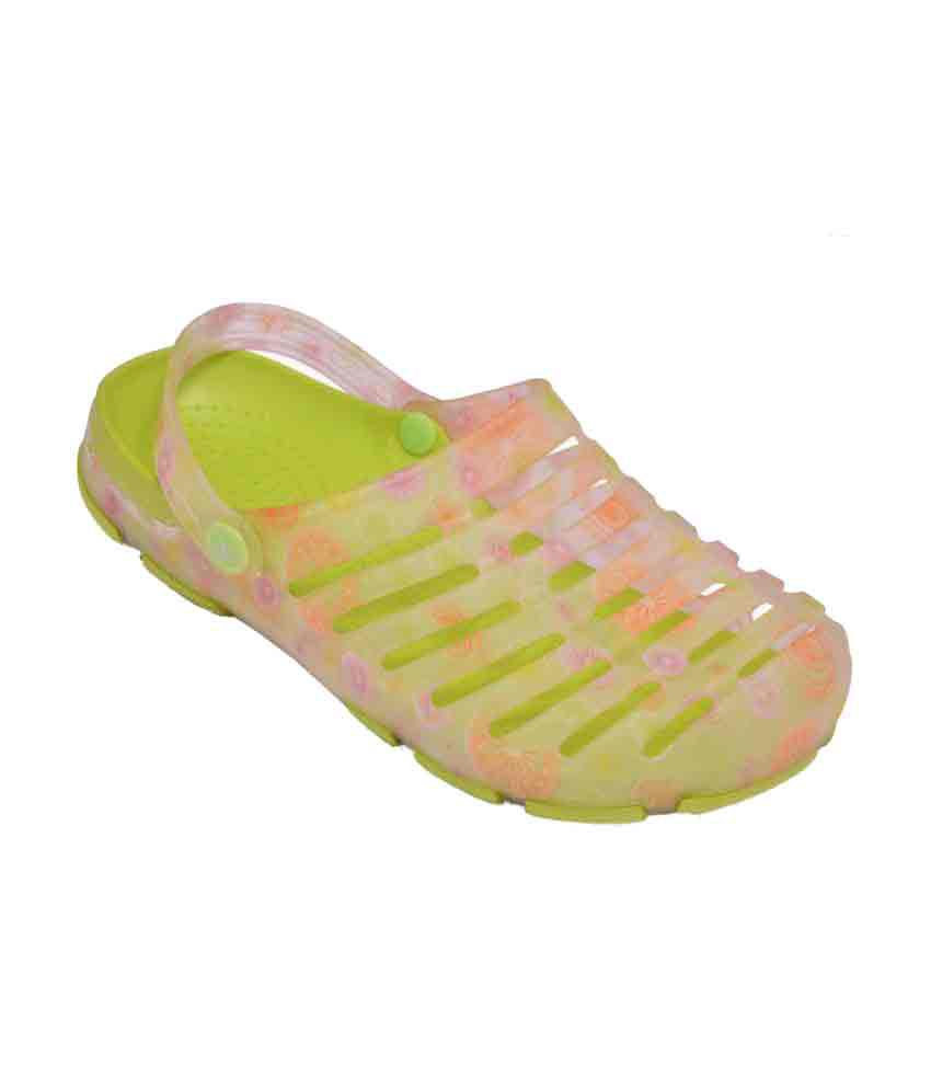 Crocslite Yellow Slippers