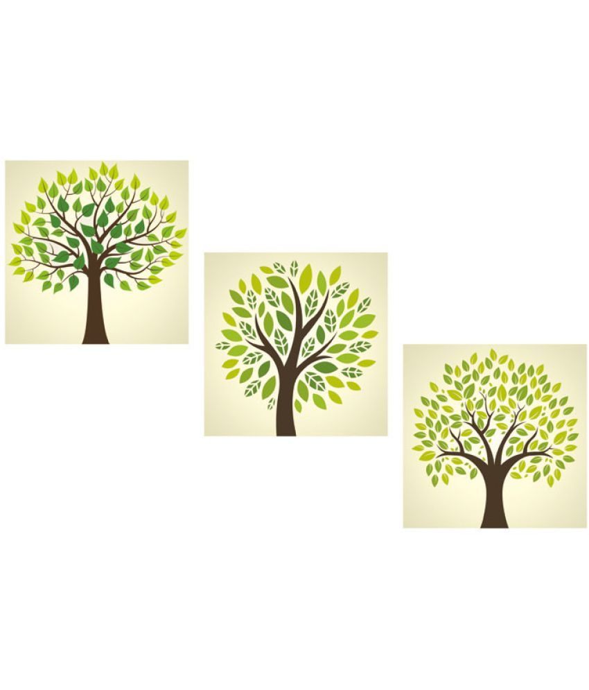 Ell Decor Canvas Abstract Paintings Without Frame 3 Combination