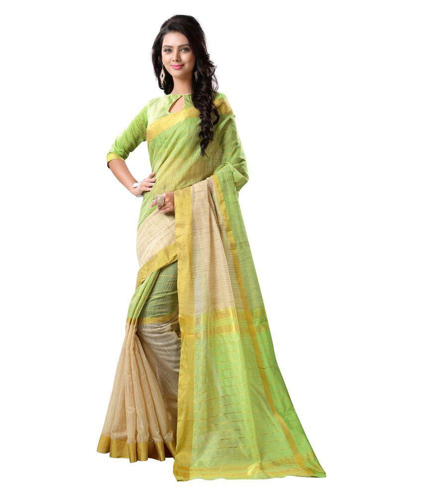 Krishna Enterprise Multicoloured Tussar Silk Saree