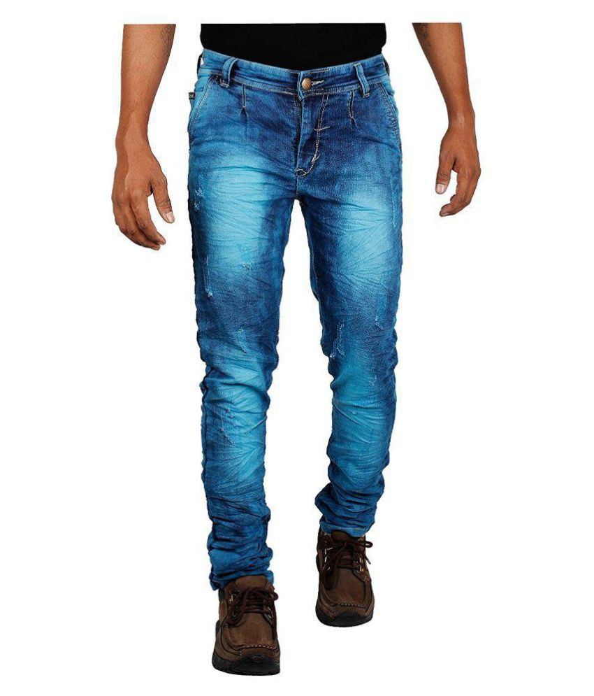 2H Blue Slim Washed