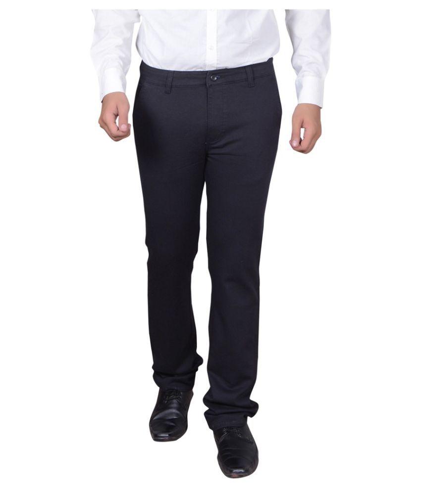 GDS Black Regular Flat Trouser