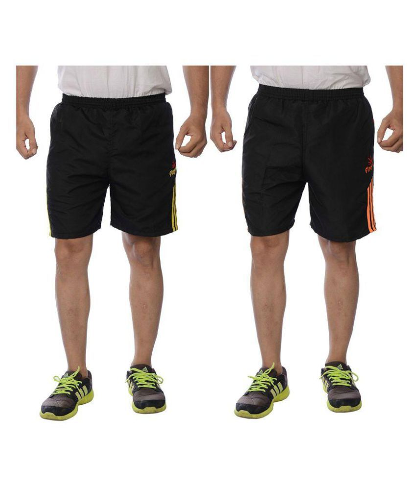 Finger's Men's Polyester Shorts Pack of 2