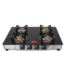Pigeon Ultra 4 Burner Glass Manual Gas Stove