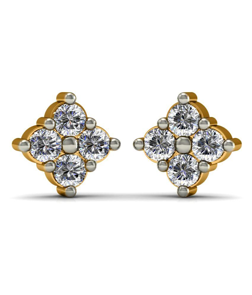 Diaonj 18k BIS Hallmarked Yellow Gold Diamond Studs